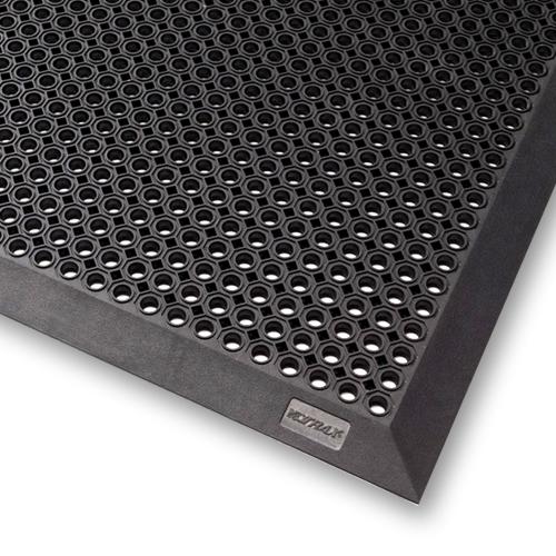 tapis caillebotis bord caoutchouc naturel toflex b noir petits trous acces faciles 70 x 90. Black Bedroom Furniture Sets. Home Design Ideas