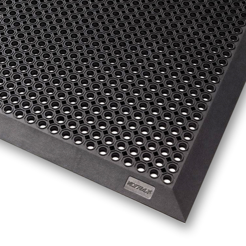 tapis caillebotis bord caoutchouc naturel toflex b noir petits trous acces faciles 90 x 150. Black Bedroom Furniture Sets. Home Design Ideas