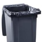 Housse conteneur plastique 240 L (gris foncé) 45µ – Carton de 100