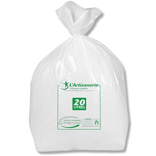 sac poubelle plastique 20 l blanc 30 carton de 200 l 39 apei de saint amand montrond. Black Bedroom Furniture Sets. Home Design Ideas