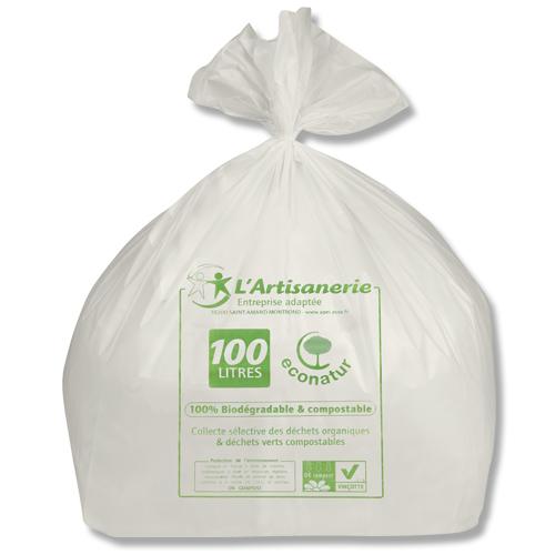 sac poubelle biocompost econatur 100 l 45 carton de 100 l 39 apei de saint amand montrond. Black Bedroom Furniture Sets. Home Design Ideas