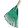 Balai à gazon polymère 27 dents fil plat 65 cm avec manche bois 1,50 m