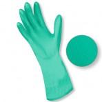 Gants nitrile floqué vert – Sachet de 2 paires