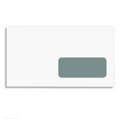 Enveloppe blanche fen tre 35 x 100 110 x 220 auto for Enveloppe a fenetre