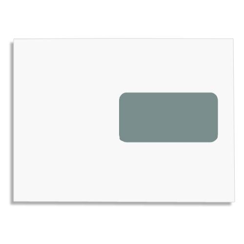 Enveloppe blanche fen tre 45x100 162 x 229 bo te de for Enveloppe a fenetre
