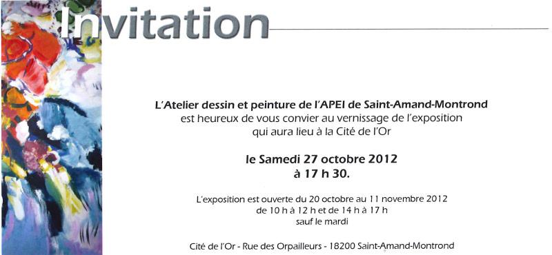 Modele Invitation Vernissage Peinture Document Online