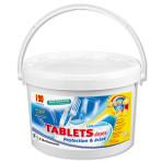 Tablets doses lave-vaisselle tout en 1 – Seau de 120 tablets doses