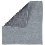 Carré microfibre bi-texture gris – Sachet de 5
