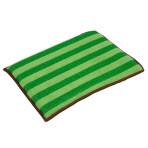 Tampon microfibre bi-matière vert et marron