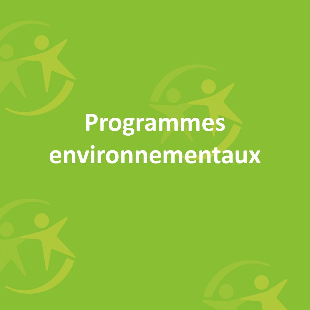 Programmes environnementaux