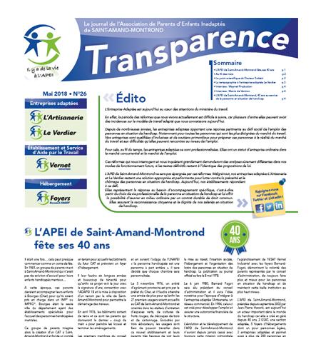 Transparence n°26 – Mai 2018