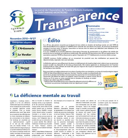 Transparence n°27 – Nov. 2018