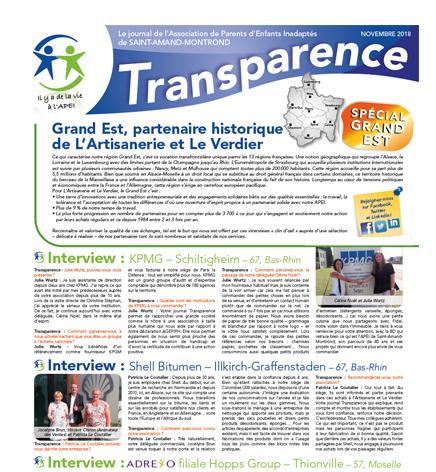 Transparence Spécial Grand Est – Nov. 2018