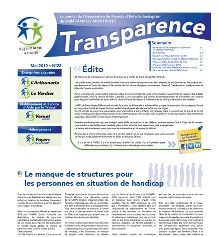Transparence n°28 – Mai 2019