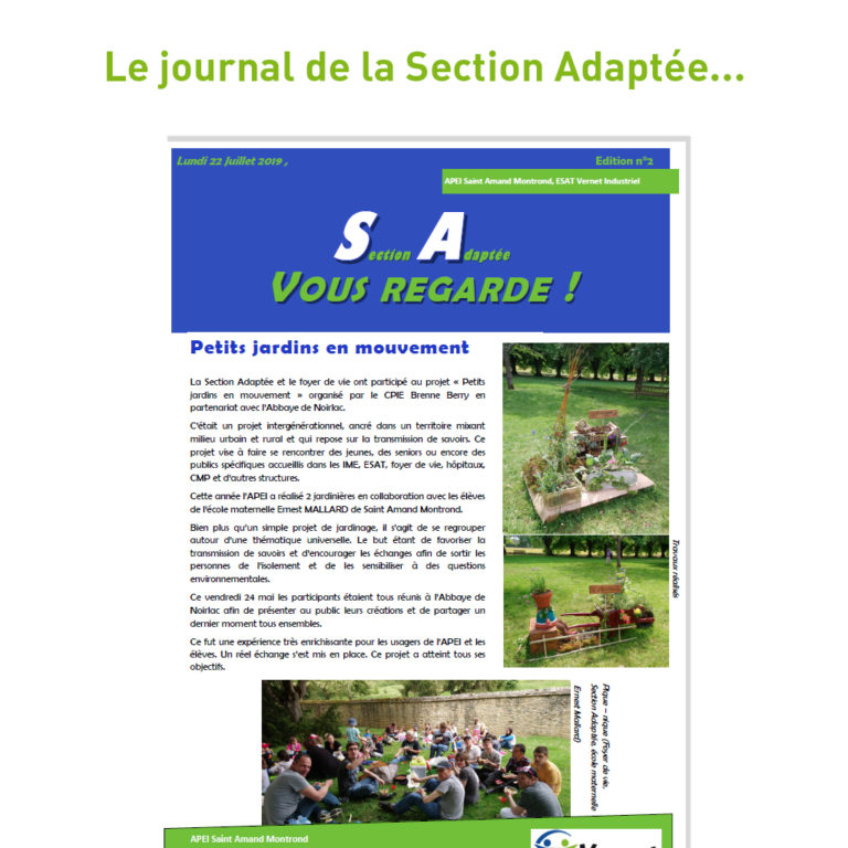Le journal de la section adaptée