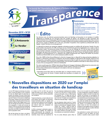 Transparence n°29 – Nov. 2019