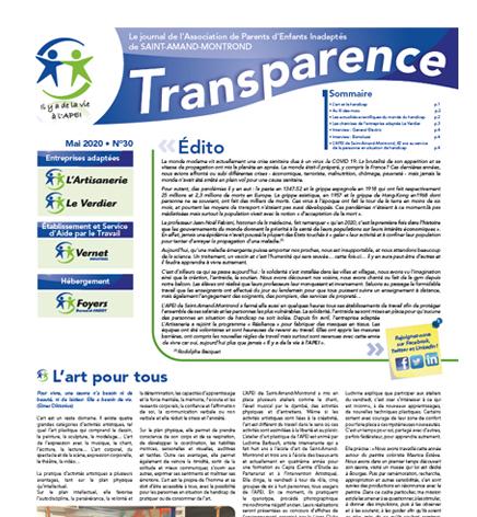 Transparence n°30 – Mai 2020
