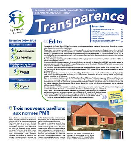Transparence n°31 – Novembre 2020